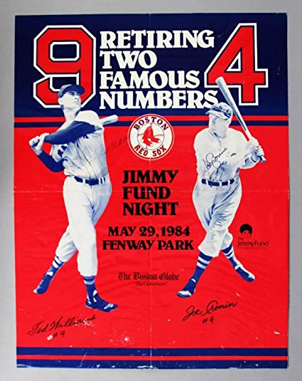 a7a249d0aee Ted Williams Joe Cronin Signed Poster - COA - JSA Certified ...