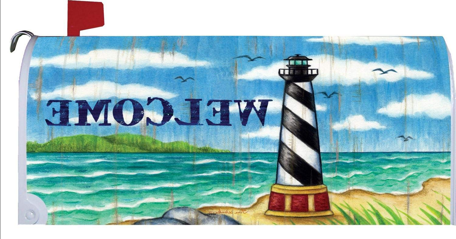 Hatteras Lighthouse Coastal Welcome Magnetic Mailbox Cover Wrap
