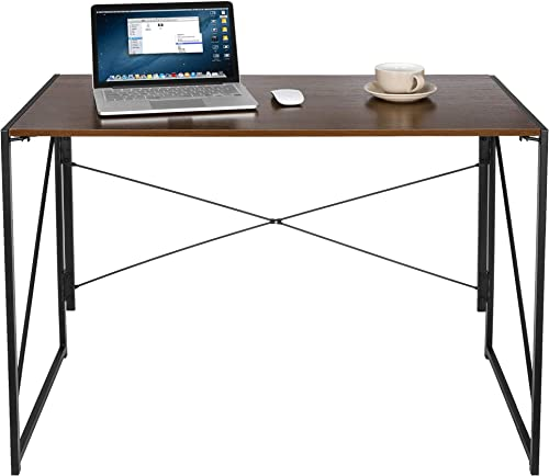 ZENY Computer Desk 39'' Sturdy Writing Desk Gaming Desk Home Office PC Laptop Folding Table Modern Simple Study Desk Steel Frame