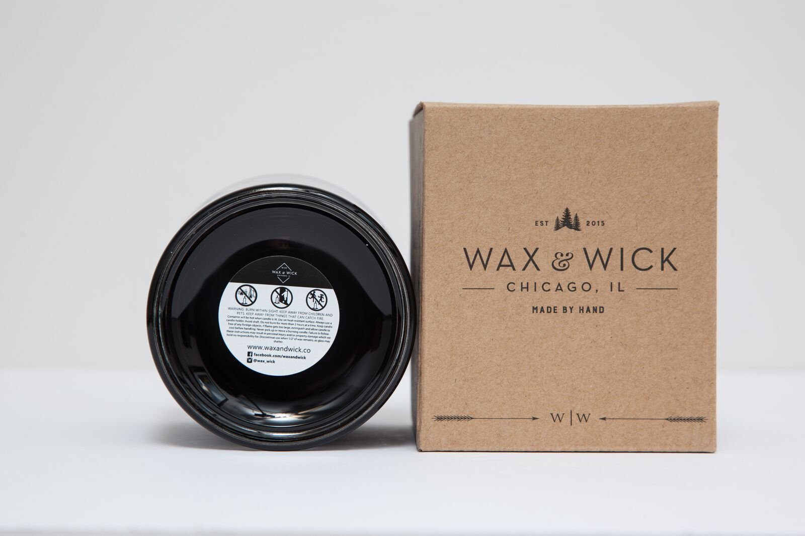 Scented Soy Candle: 100% Pure Soy Wax with Wood Double Wick | Burns Cleanly up to 60 Hrs | Mulled Cider Scent - Notes of Apple, Nutmeg, Vanilla, Caramel. | 12 oz Black Jar by Wax and Wick by Wax & Wick (Image #5)