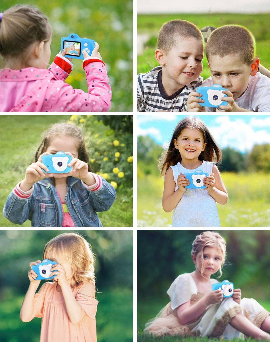 Upgraded 1080P HD Kids Digital Camera with 32G SD Card Vacpower Kids Camera Blue Best Christmas Birthday Gifts Learning Toys for 3 4 5 6 7 8 9 10 9 Year Old Girls Boys