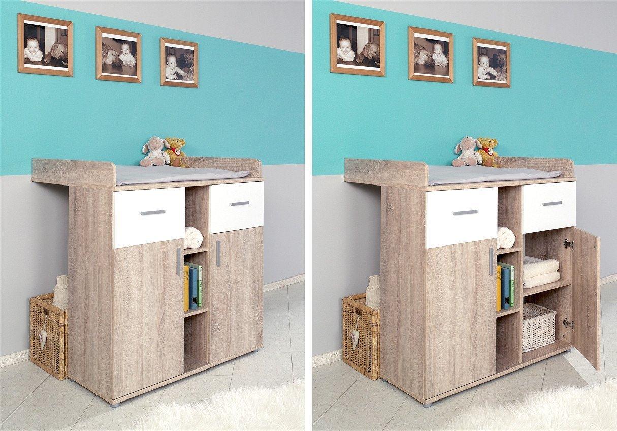 Babyzimmer Komplettset / Kinderzimmer Komplett Set ELISA Verschiedene  Varianten In Eiche Sonoma / Weiß (ELISA 1): Amazon.de: Bürobedarf U0026  Schreibwaren