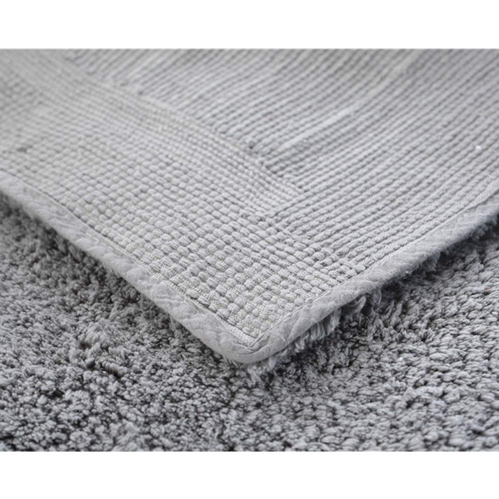 AXIANQIMat Soft Mat Floor Mat Towel Bathroom Non-Slip Bathroom Door Mat Cotton Absorbent Long Hair Thickening Mat Washable Brown 5080cm 6090cm (Color : Gray, Size : 5080cm) by AXIANQIMat (Image #3)