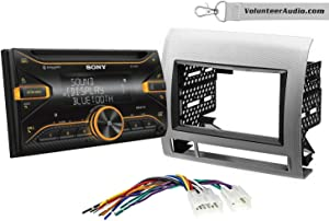 Sony WX-920BT Double Din Radio Install Kit With Sirius XM Ready, USB/AUX, CD Player Fits 2005-2011 Non Amplified Toyota Tacoma (Silver Textured)
