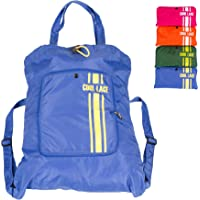 Teeoff Foldaway Sport Gym Sack Pack Cinch Sack Sports Backpack Storage Bag (Blue)