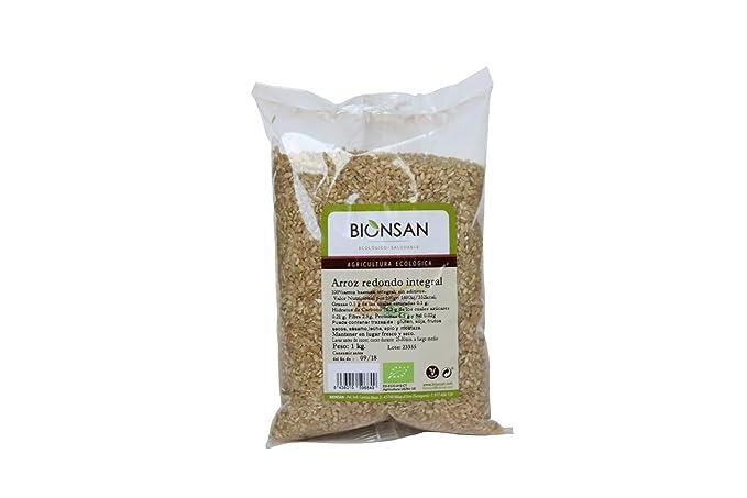 Bionsan Arroz Integral Redondo - 3 Paquetes de 1000 gr - Total: 3000 gr
