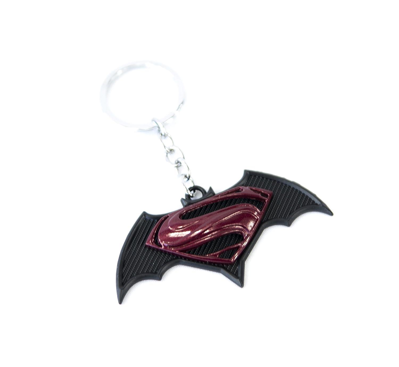1 New Custom Batman Superman emblema llavero de metal ...