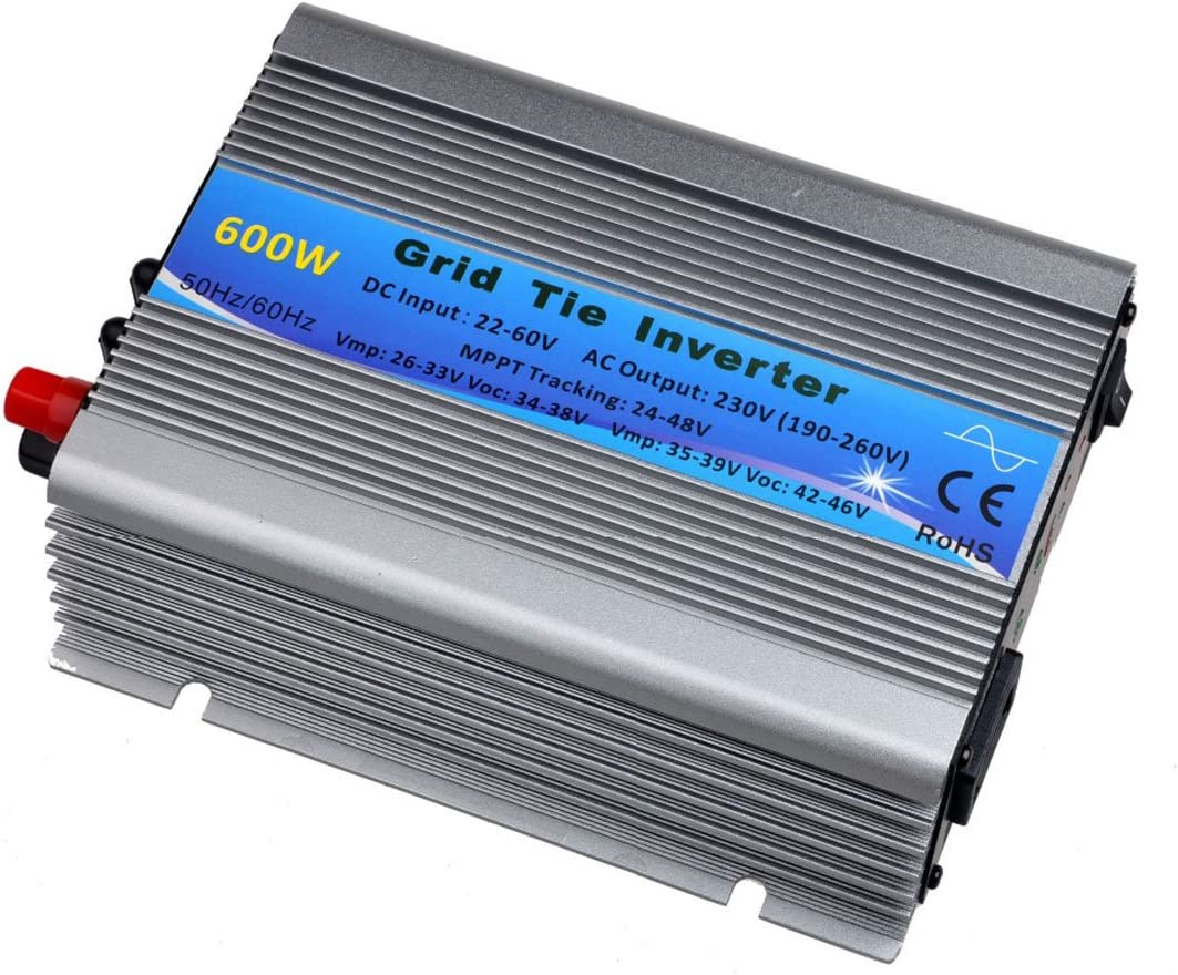 Y H 600W 30V 36V Grid Tie Inverter Stackable MPPT Pure Sine Wave DC22-60V to AC90-140V Output