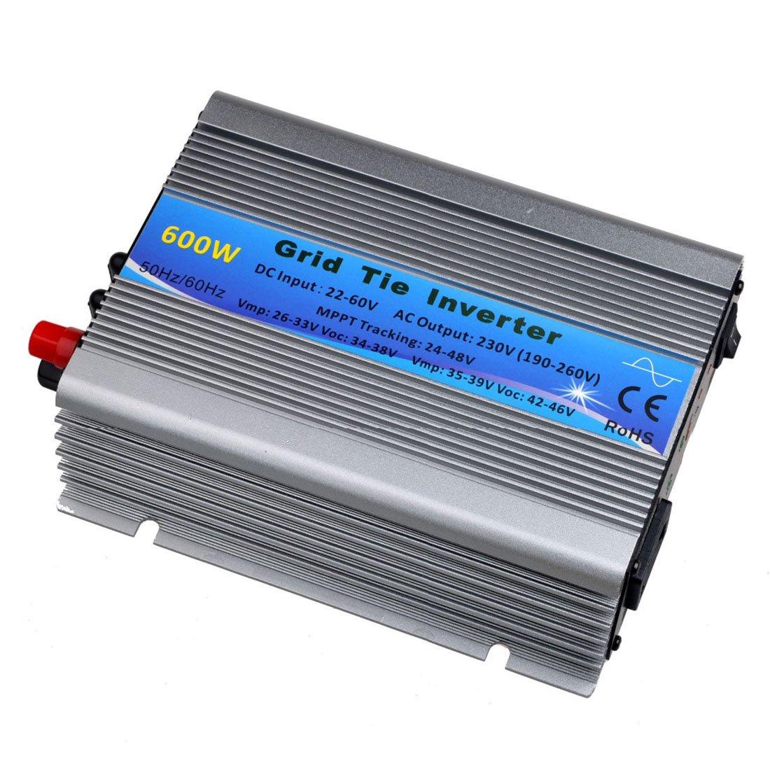 Y/&H 600W Grid Tie Inverter Stackable DC11-32V Input AC220V MPPT Pure Sine Wave Micro Inverter fit for 12V Solar Panel//24V Battery