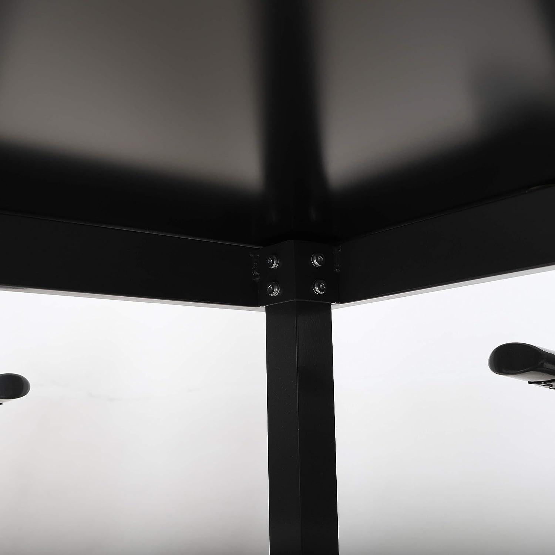 94x94 cm mit bruchsicherer Glasplatte schwarz//grau Strandgut07 Aluminium Gartentisch Terrassentisch Balkontisch ca