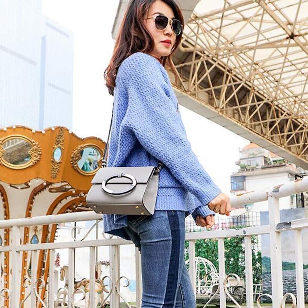 LXDDJsl damhandväska dammode läderhandväskor Japan och Sydkorea mode axelväska messengerväska (färg: grå) Grått