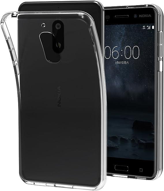 Estuyoya - Funda Silicona Compatible con Nokia 6 Gel Transparente ...