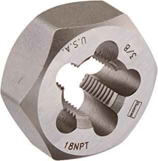 product image for IRWIN Tools 7404 High Carbon Steel Re-Threading Hexagon Taper Pipe Dies - Die 3/8-18NPT Hrt Hanson