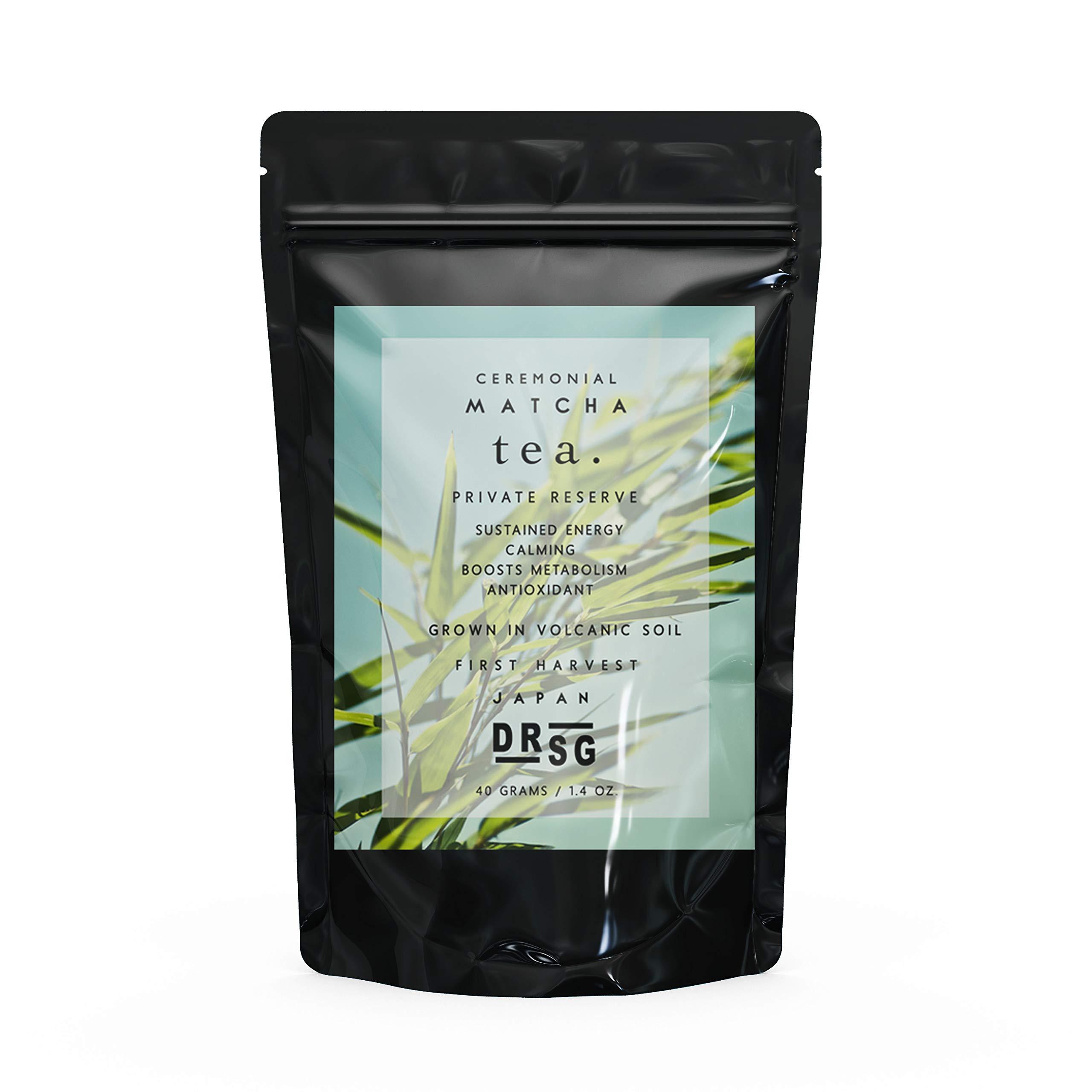 Dr. Steven Gabriel | Ceremonial Matcha Tea 40g | 80-110mg Theanine | 180mg EGCG | Richest Complex Taste | Medical Grade