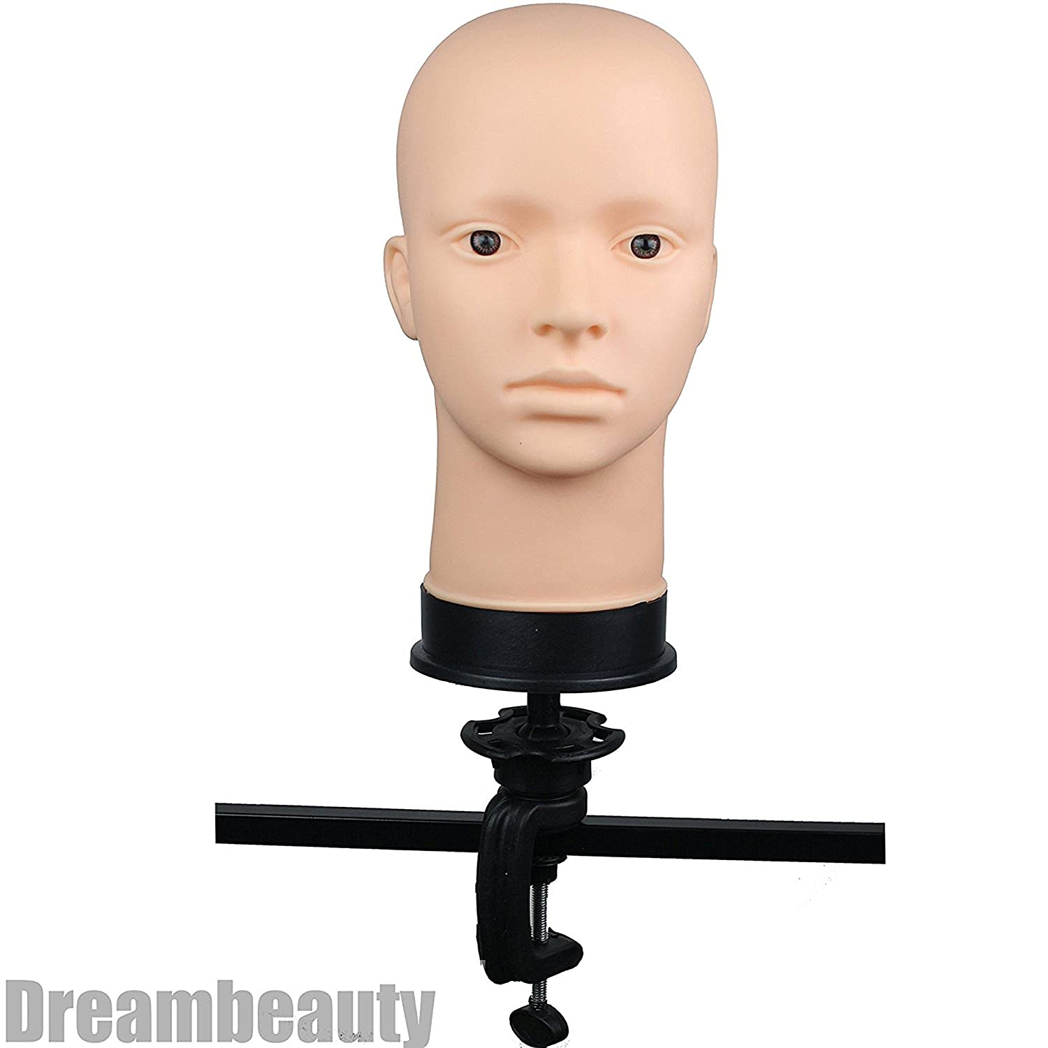 Dreambeauty Soft Viny Mannequin Head for Make Up and Massage and Wig Making (1pc Mannequin Head+ 1pc Clamp Holder) Qingdao Feiyang Hair Co. Ltd