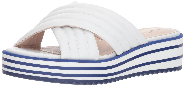 Nine West Women's Zonita Slide Sandal B07BMJ45LK 9.5 B(M) US|White