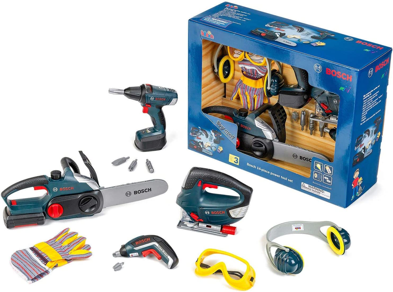 Bosch Large Toy Power Tools 14-Piece Set