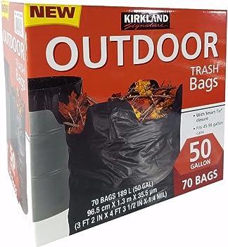 Kirkland Signature 50 gallon Outdoor Trash Bags