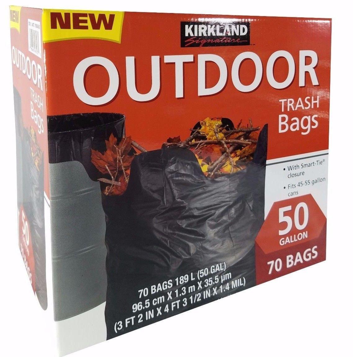 Kirkland Signature Outdoor 50 gallon Trash Bags (70 Pack) by Kirkland Signature