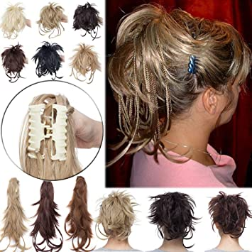 Amazon Elailite Messy Bendable Clip On Ponytail Hairpiece