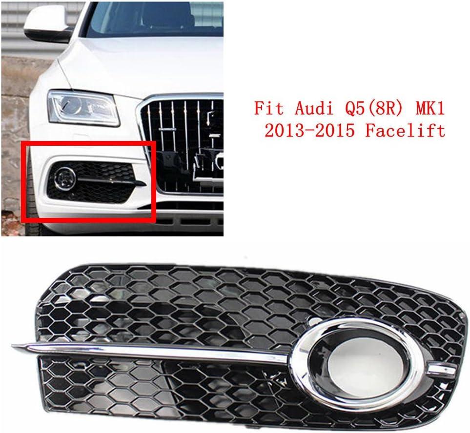 Front Left Lower Bumper Grille Fog Light Cover for Audi Q5 MK1 2013-2015 Facelift 8R