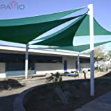 Patio Paradise 12' x 12' x 17' Turquoise Green Sun
