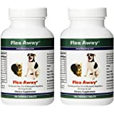 Flea Away All Natural Flea, Tick, and Mosquito Repellent for Dogs and Cats, 100 Chewable Tablets