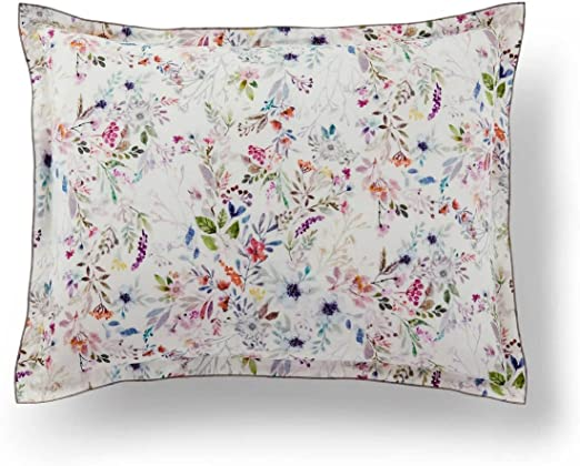 Amazon Com Peacock Alley Chloe Printed Percale Duvet Cover 100 Long Staple Cotton Percale Fun And Flirty Wildflower Floral Print Imported From Portugal Floral Standard Sham Home Kitchen