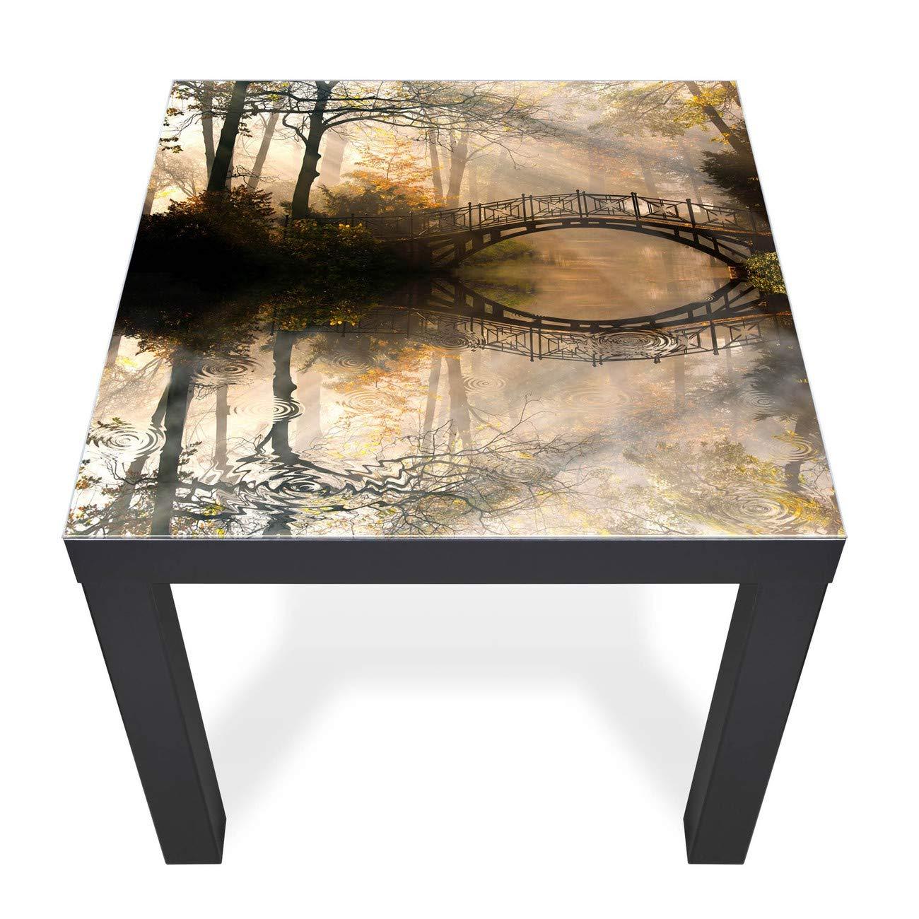 Banjado Glas Abdeckplatte Tisch 55x55cm Glasplatte Englischer