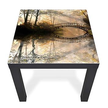 Banjado Glas Abdeckplatte Tisch 55x55cm Glasplatte Sicherheitsglas