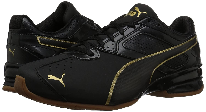 PUMA Women's Tazon 6 WN's Fm Cross-Trainer Shoe B0753YPQZ2 7.5 B(M) US|Puma Black-puma Team Gold