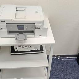 Amazon Co Jp Devaise プリンター台 プリンターワゴン プリンターラック 幅600 奥行480 高さ700mm 複合機使用可 総耐荷重70kg 堅牢なスタンド 移動便利 ホワイト Oradyj603wh Office Products