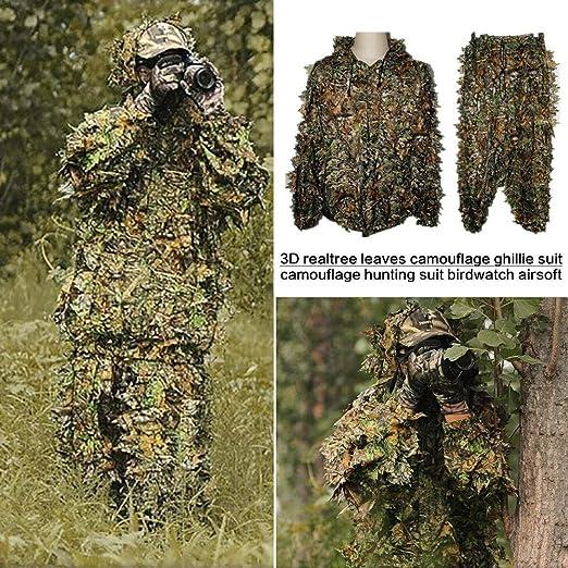 Nrkin Kit de traje de camuflaje Sudadera con capucha y pantalones ...