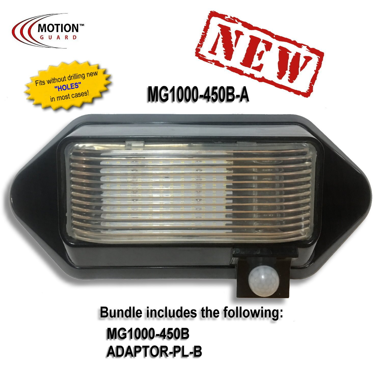 MG1000-450B-A, 12 Volt Exterior Motion RV LED Porch Light, RV Security Motion Porch Light, Black