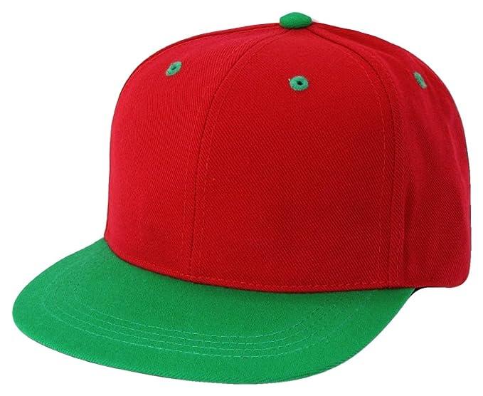 Two Tone Retro Flat Bill Snapback Baseball Cap (One Size 50b5cf8701b