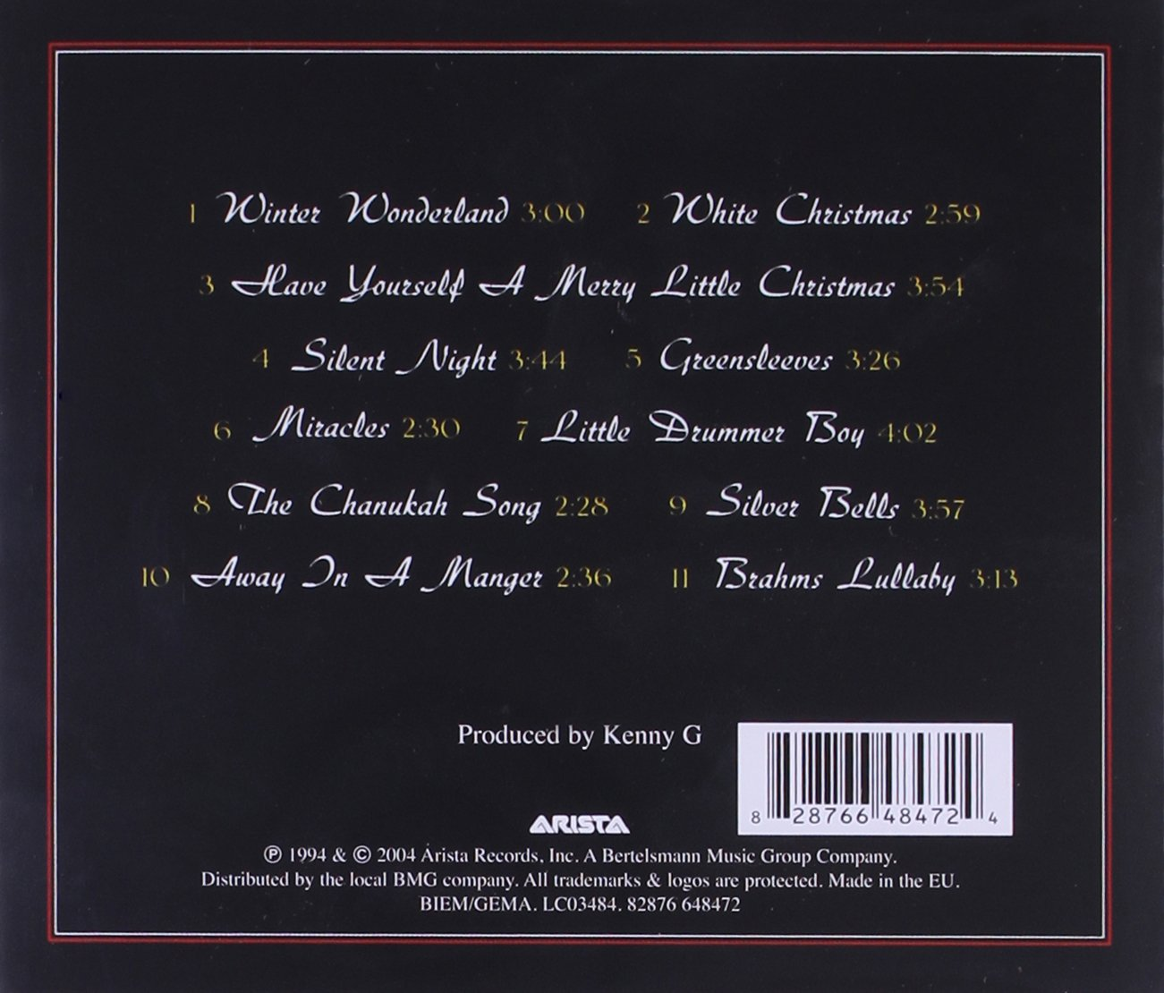 NEW Miracles The Holiday Album by Kenny G CD Jul2010 BMG