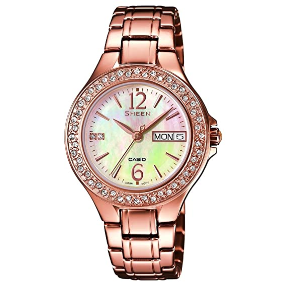 san francisco 4aa9e d039a Casio Sheen Ladies 'Watch Analogue Quartz Stainless Steel ...
