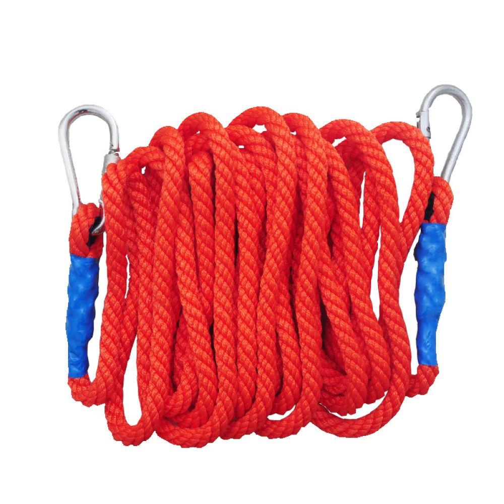 Rouge Corde Escalade De Plein Air Homme Araignée Corde Alpinisme Corde De Levage échapper Résistant à Abrasion Corde,rouge-5m18mm 30m16mm