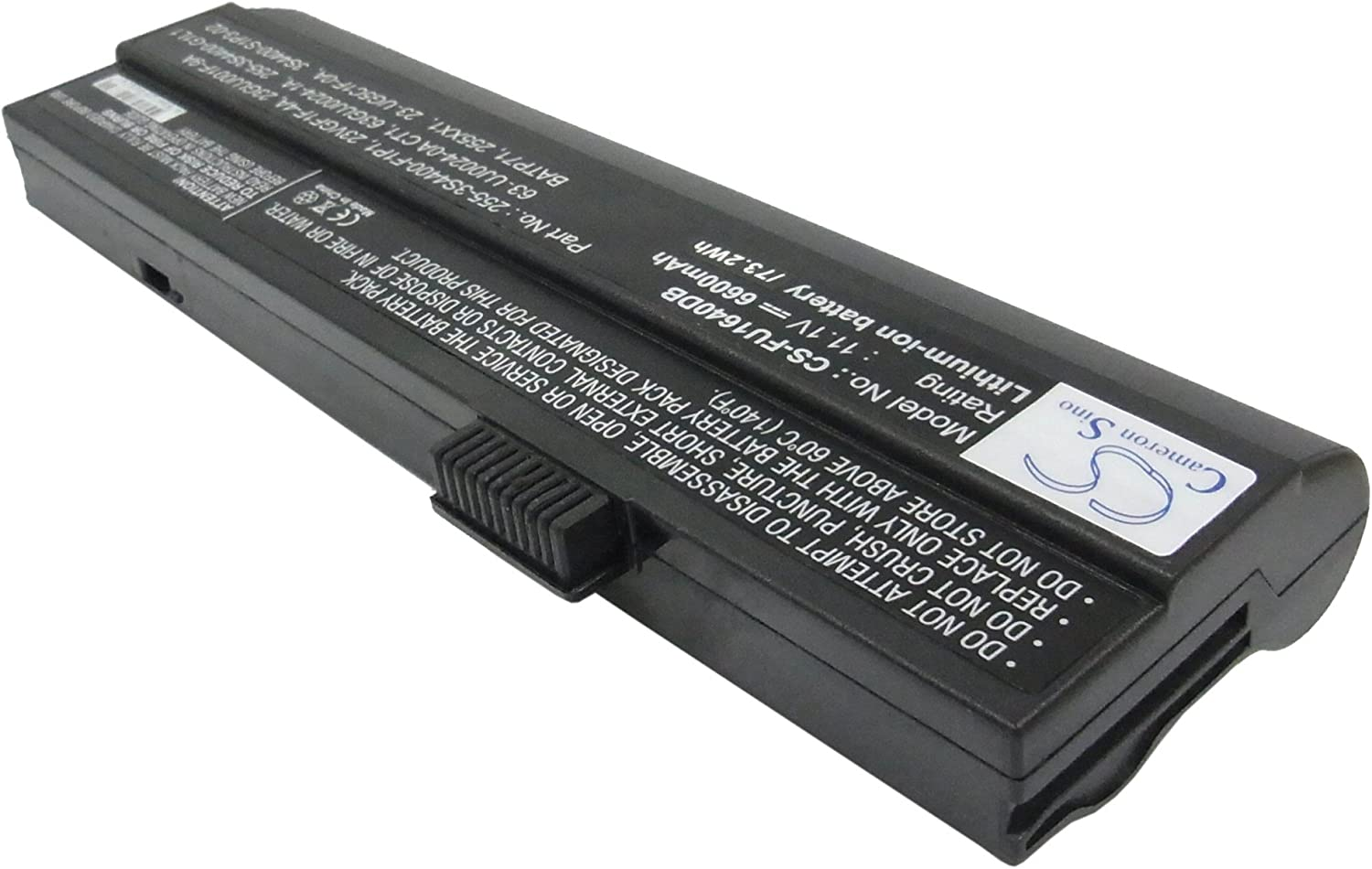 GAXI Battery for Fujitsu Notebook Laptop Replacement for P/N 23GUJ001F-3A, 23-GUJ001F-9A, 23GUJ001F-9A