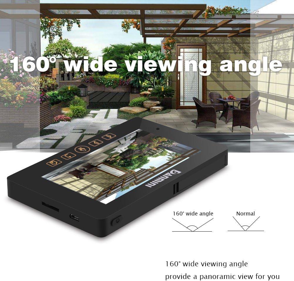 fosa Mirilla de Puerta con Cámara HD, Pantalla LCD TFT, Detección PIR, Visor de Mirilla Inteligente para la Seguridad Día Noche en Casa: Amazon.es: Electrónica