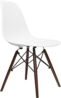 UrbanMod Eames Style Modern Dining Armless Side Chairs (Set Of 2) Walnut  Legs |