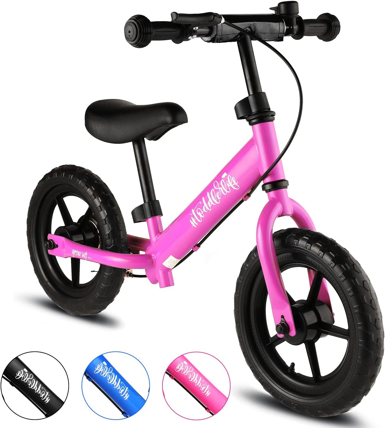 "Unisex Children 12/"" Balance Bike Kids No-Pedal Learn To Ride Pre Bike Seat US"