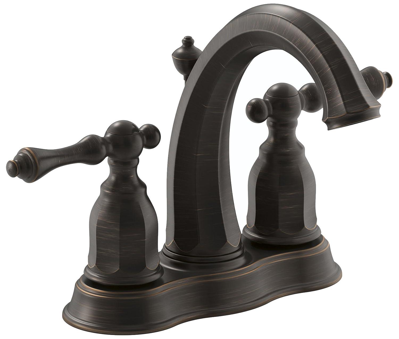 Kohler K 13490 4 2BZ Kelston 4 Inch Centerset Lavatory Faucet, Oil Rubbed  Bronze   Touch On Bathroom Sink Faucets   Amazon.com
