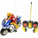 PowerTRC RC Motorcycle Car Toy (Blue)
