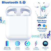 $39 » Bluetooth 5.0 Headsets in Dual Mic,30H Cycle Playtime in-Ear True Wireless Earbuds,with Hi-Fi…