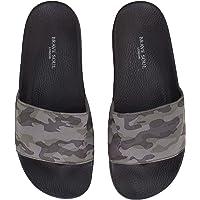 Brave Soul Mens Gator Camo Summer Holiday Beach Flip Flops Sandals Sliders Khaki