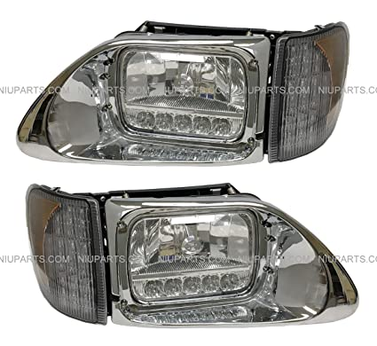 Amazon com: Headlight with Reflector White LED and LED Corner Lamp