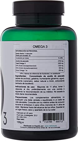 O3 Pure Omega 3 Burpless Fish Oil Softgels + Lemon | 2000mg EPA 1250mg DHA 500mg, Supplements Natural Capsules | Aceite de Pescado