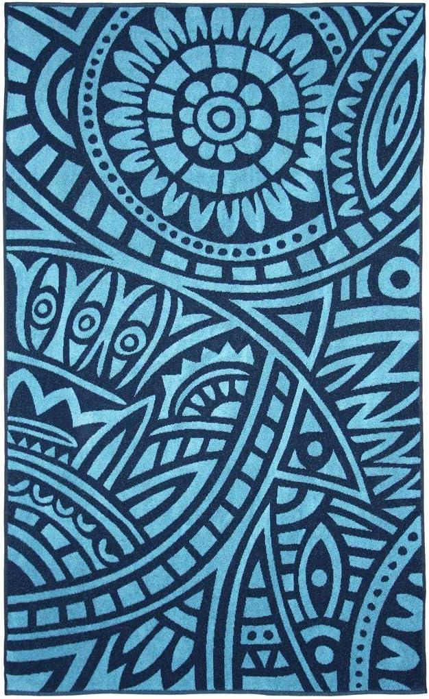 10 Celeste Barcel/ó Hogar Toalla Playa Marinero Terciopelo 100x170 cm 100 x 170 cm