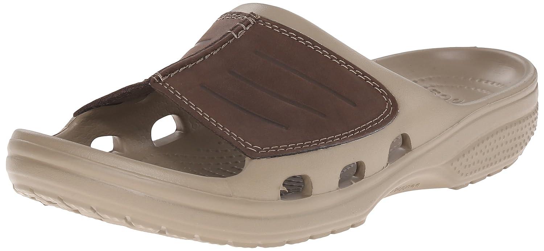 Crocs 203294 Chanclas, Hombre 48/49 EU Marrón (Khaki/Espresso)